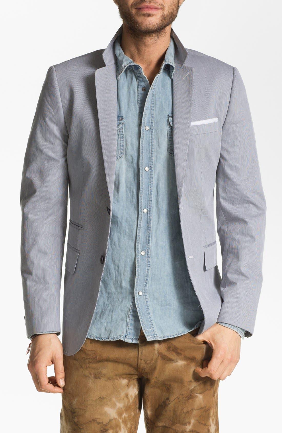 Alternate Image 1 Selected - Howe Stripe Cotton Blazer