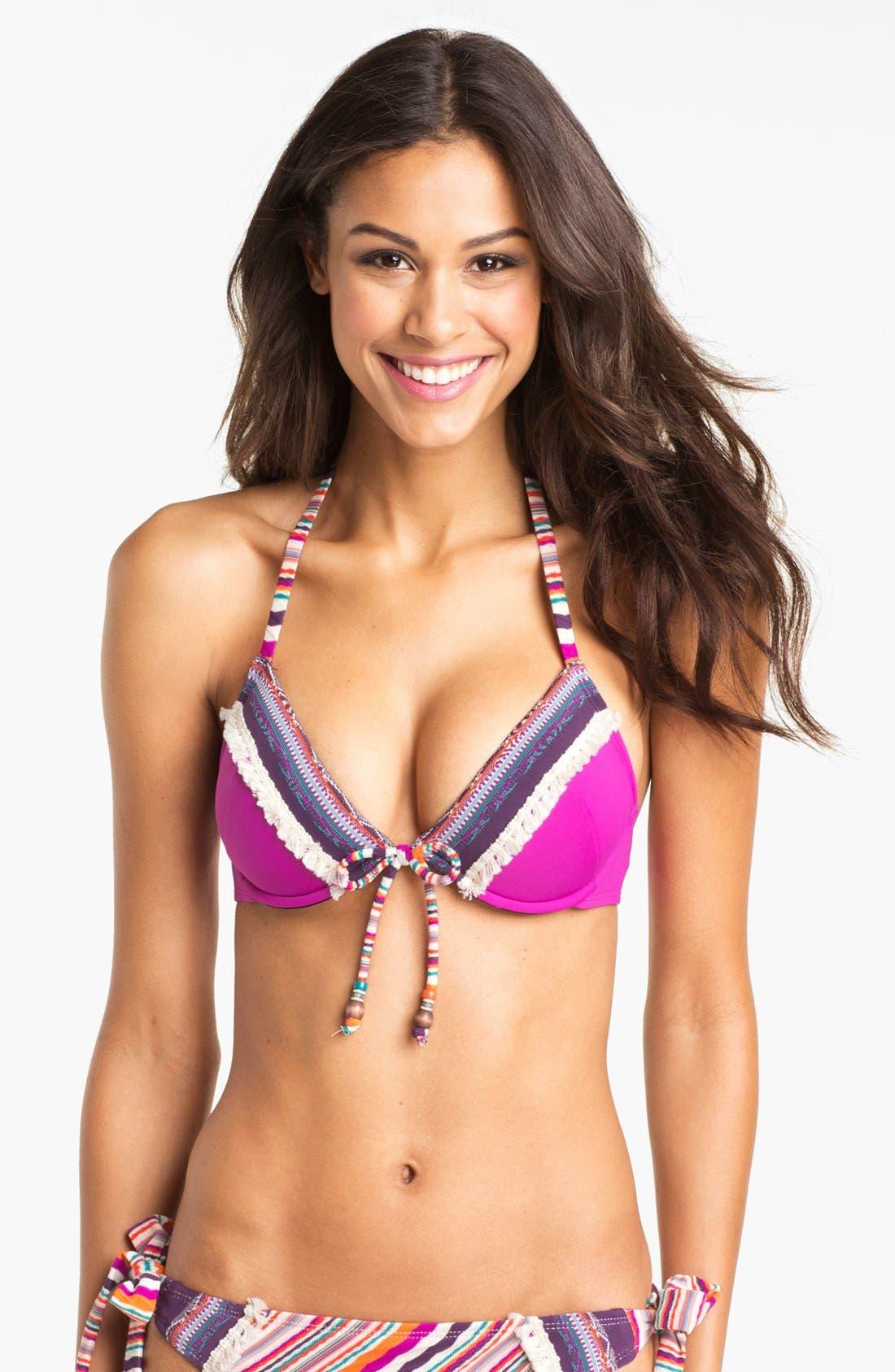 Main Image - Lucky Brand Swimwear 'Mumbai' Underwire Bikini Top