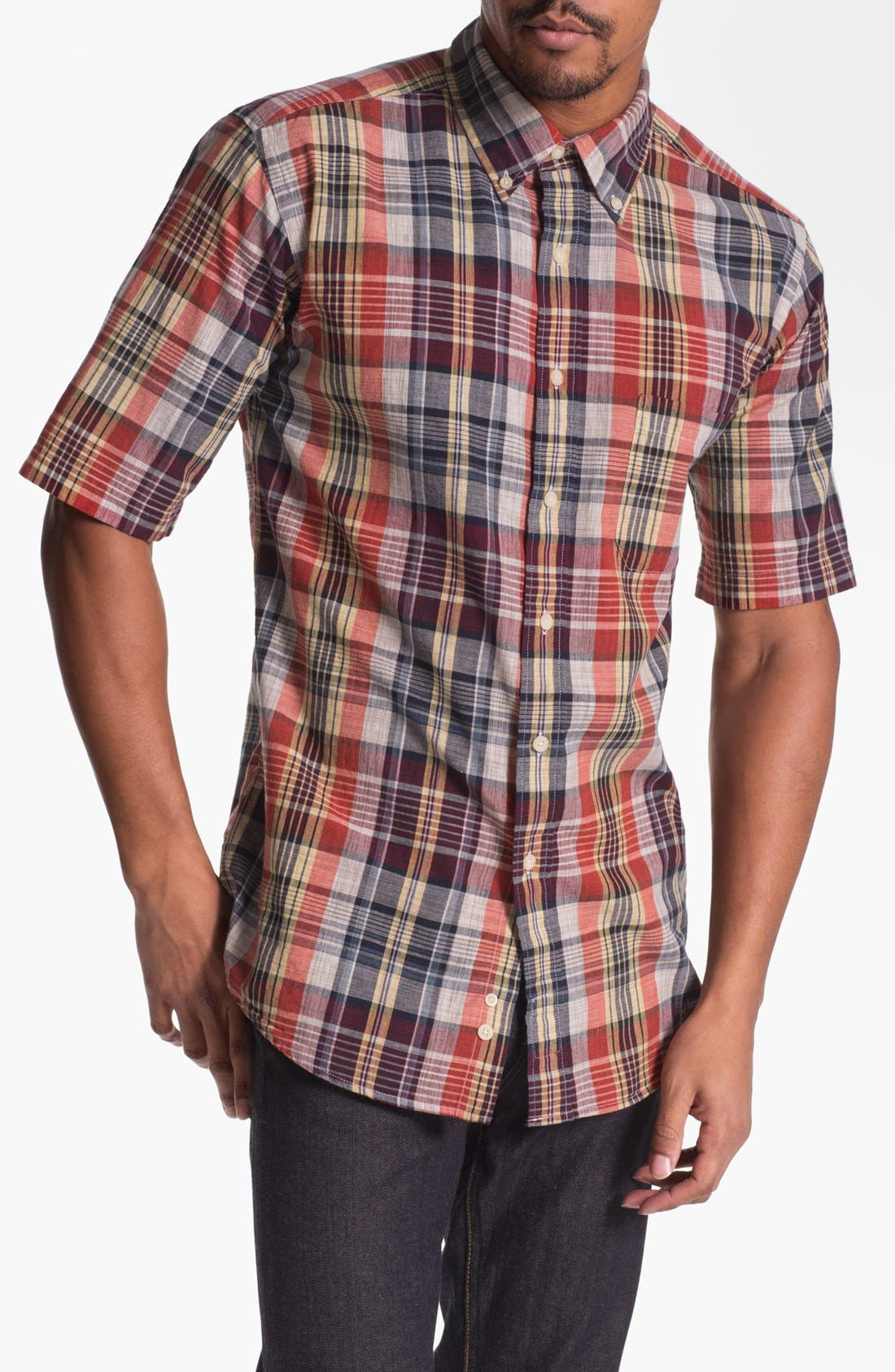 Main Image - Pendleton 'Seaside' Fitted Madras Plaid Woven Shirt