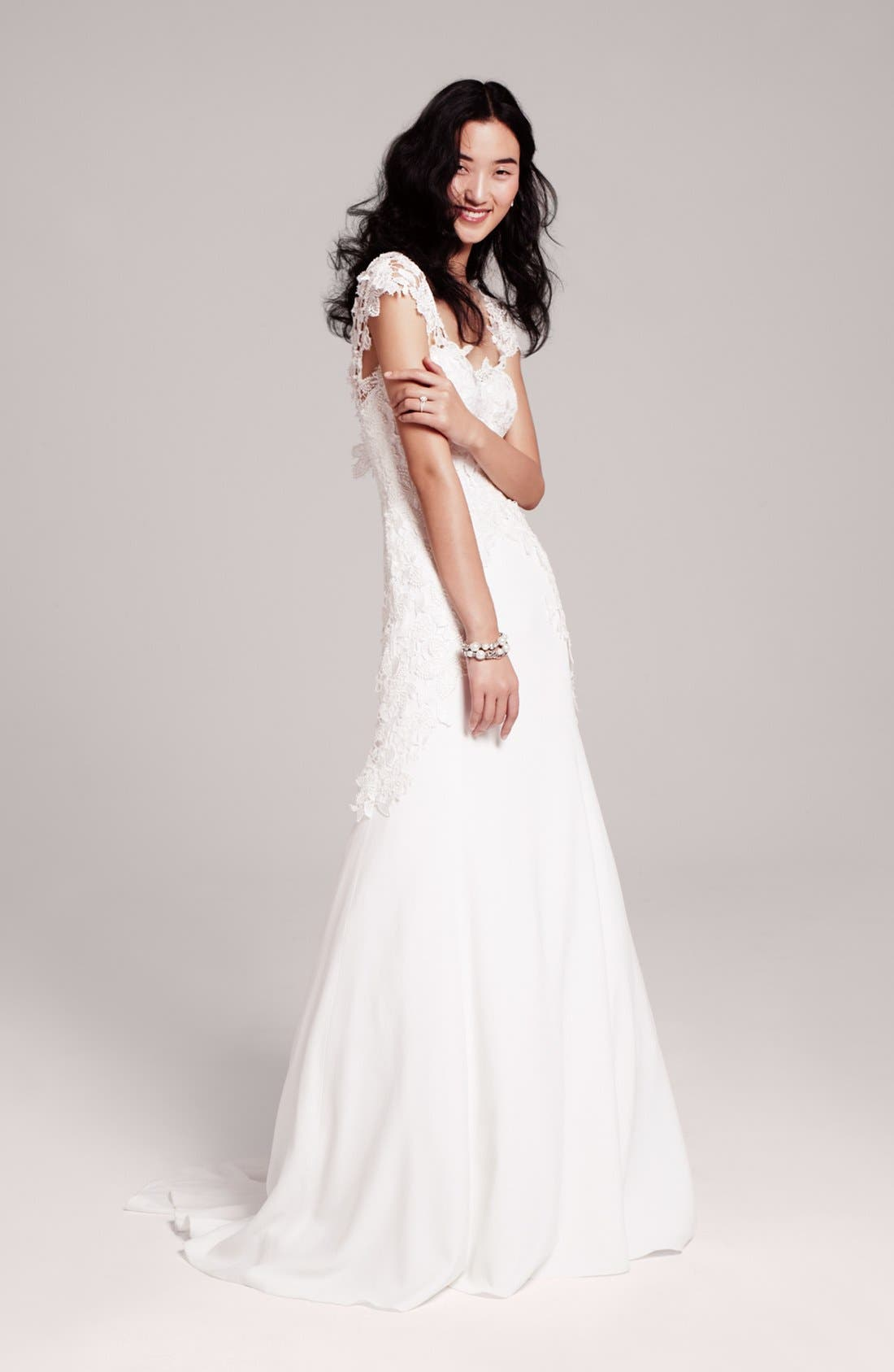 Alternate Image 1 Selected - Lela Rose Gown & Accessories