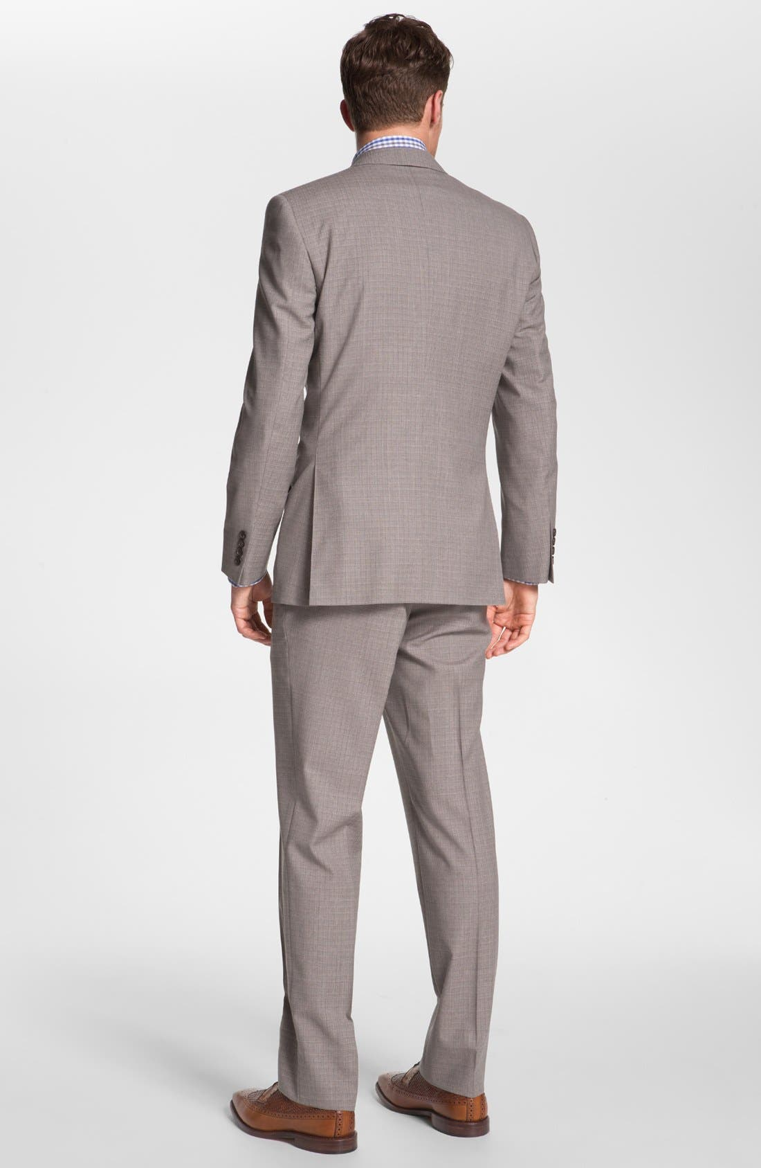 Alternate Image 3  - Ted Baker London Trim Fit Wool Suit