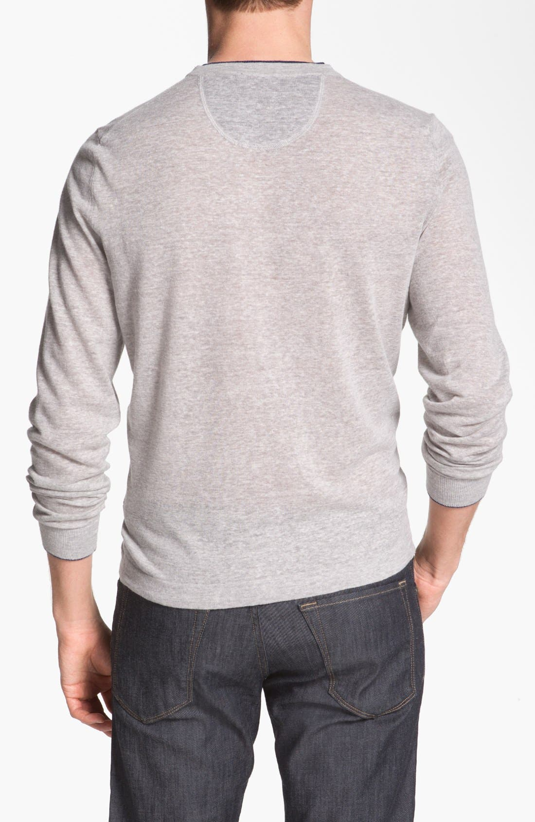 Alternate Image 2  - BOSS HUGO BOSS 'Franz' Linen Blend Sweater