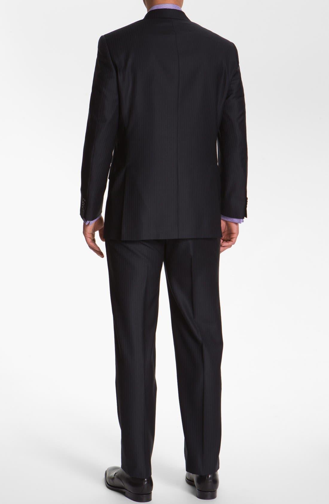 Alternate Image 3  - Hart Schaffner Marx Stripe Wool Suit (Big)