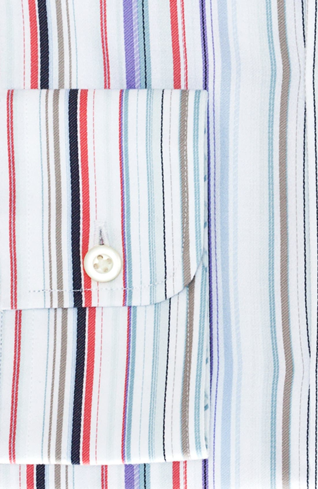 Alternate Image 2  - Thomas Dean Stripe Dress Shirt (Big Boys)