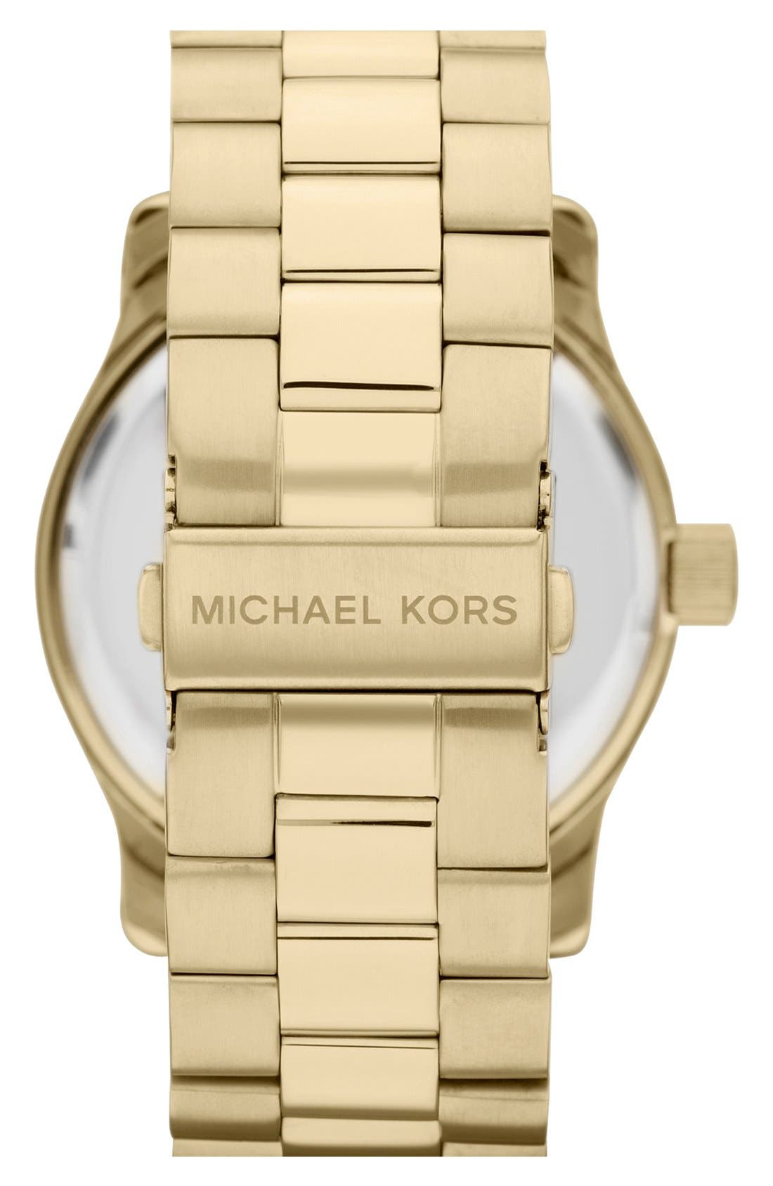 Alternate Image 3  - Michael Kors 'Large Runway' Bracelet Watch, 44mm