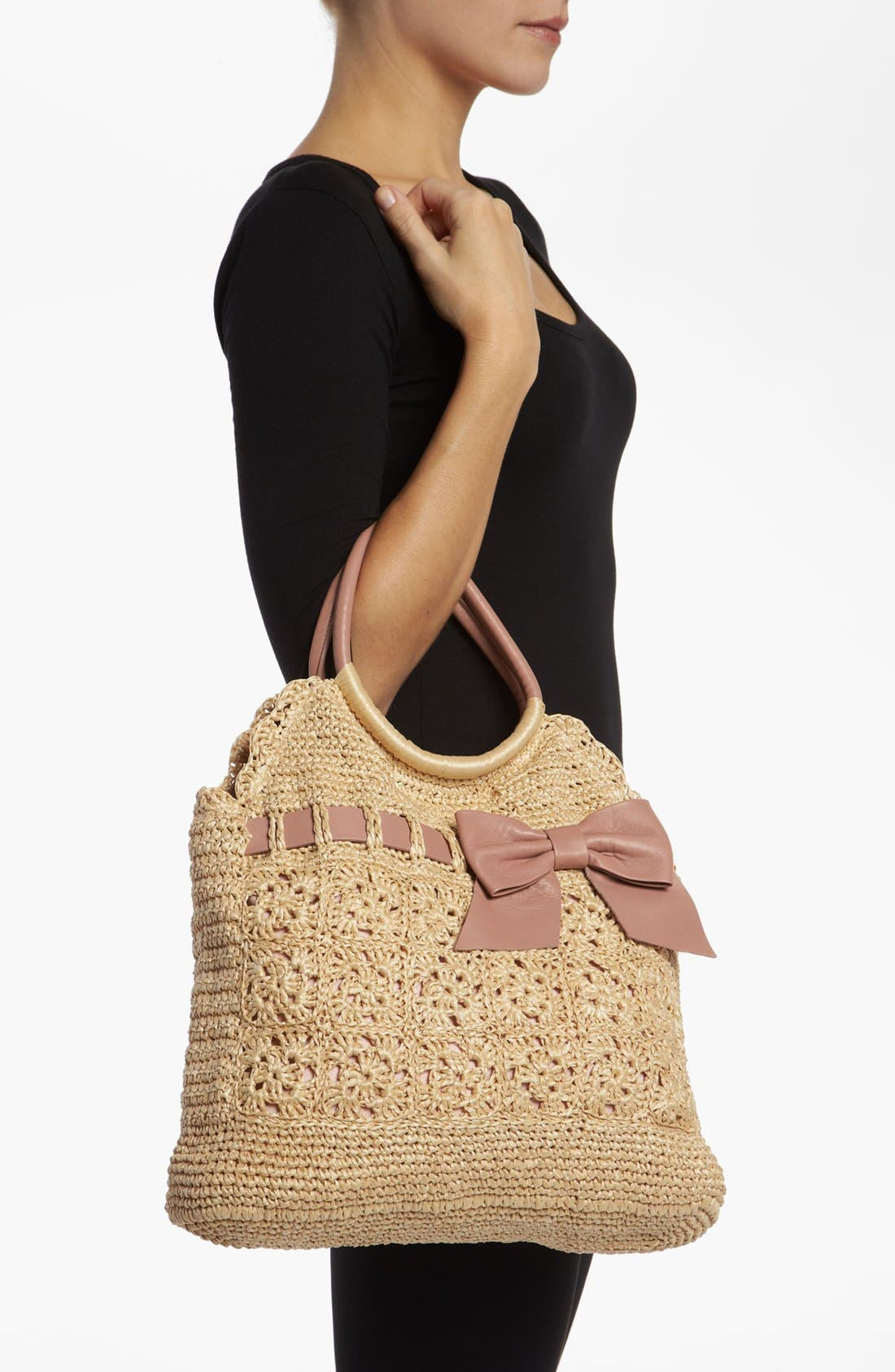 Alternate Image 2  - RED Valentino Crochet Raffia Hobo