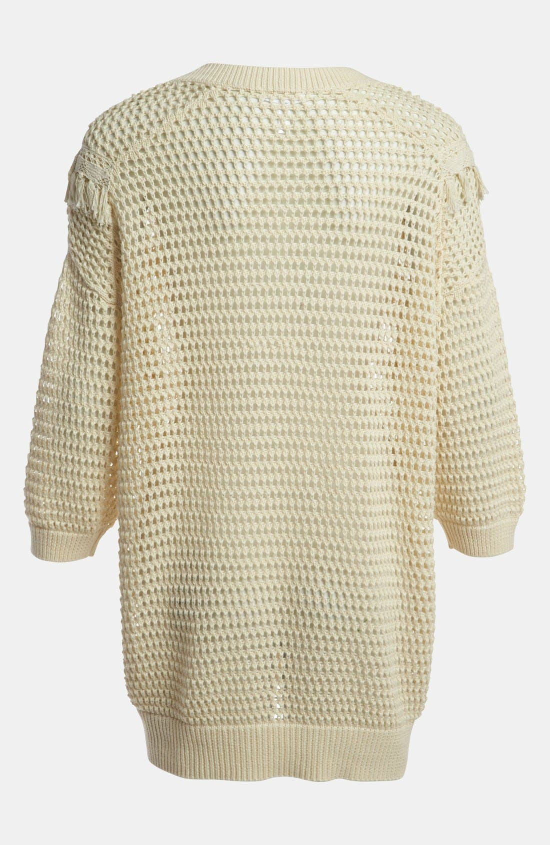 Alternate Image 2  - Leith Crochet Trim Pullover