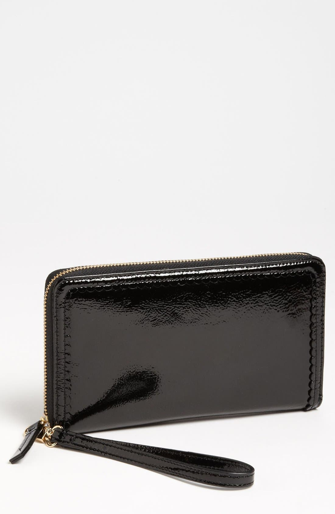 Alternate Image 1 Selected - Halogen Scalloped Zip Around Wallet