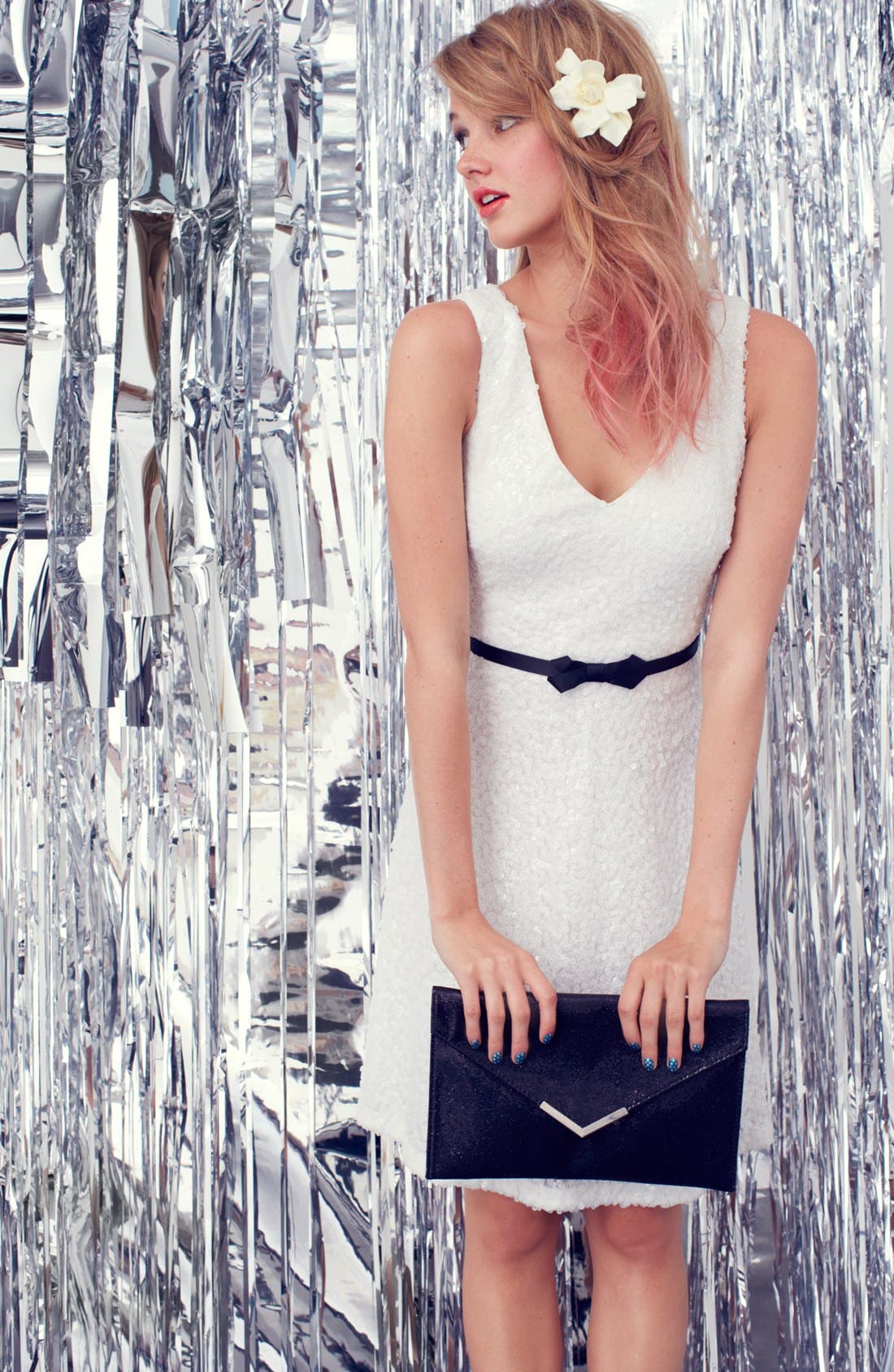 Alternate Image 4  - Laundry by Shelli Segal Sequin Fit & Flare Dress