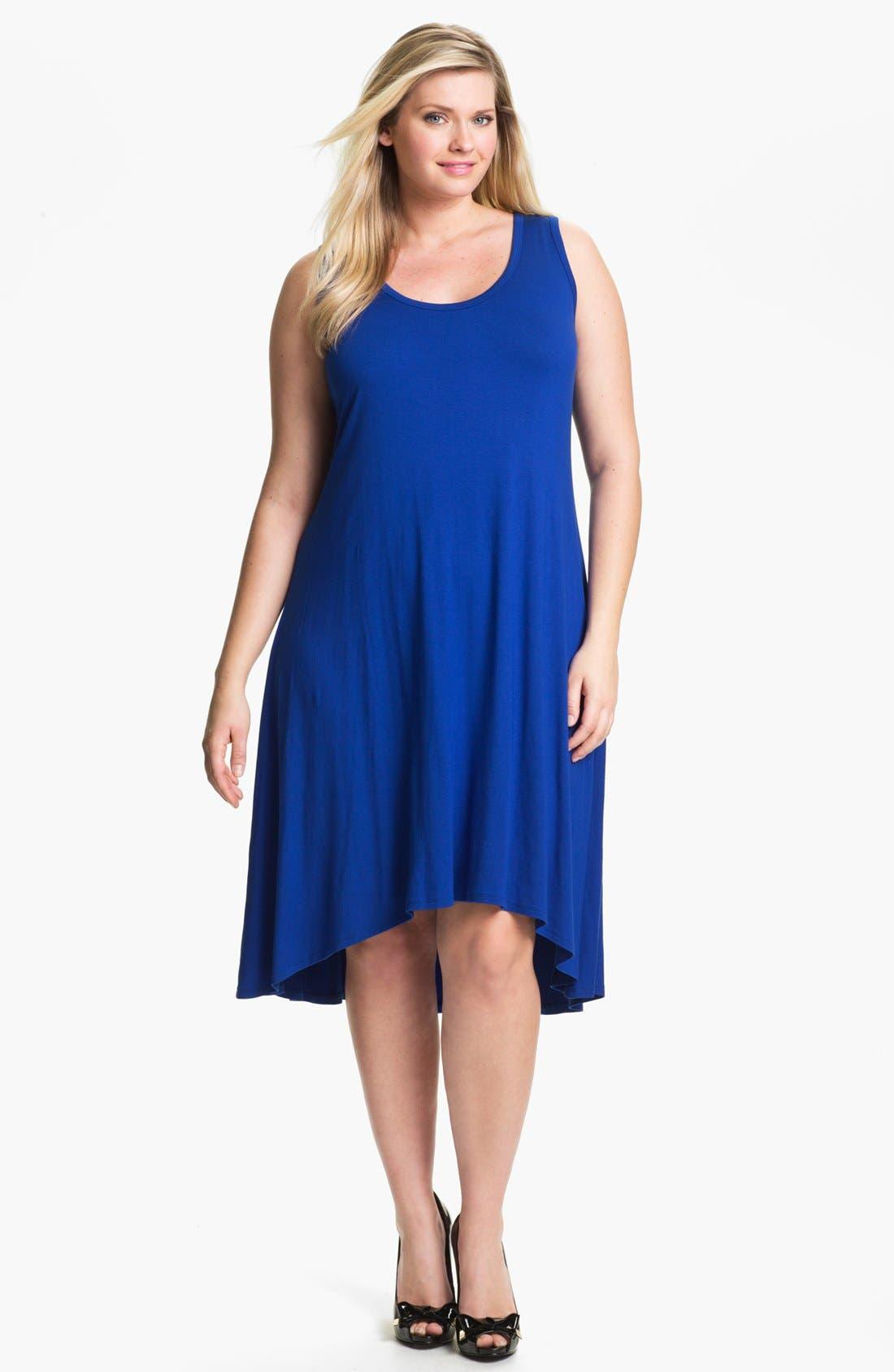 Alternate Image 1 Selected - Karen Kane Midi Tank Dress (Plus Size)