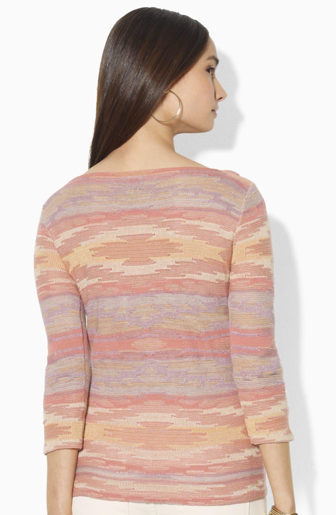 Alternate Image 2  - Lauren Ralph Lauren Bateau Neck Top (Petite) (Online Only)