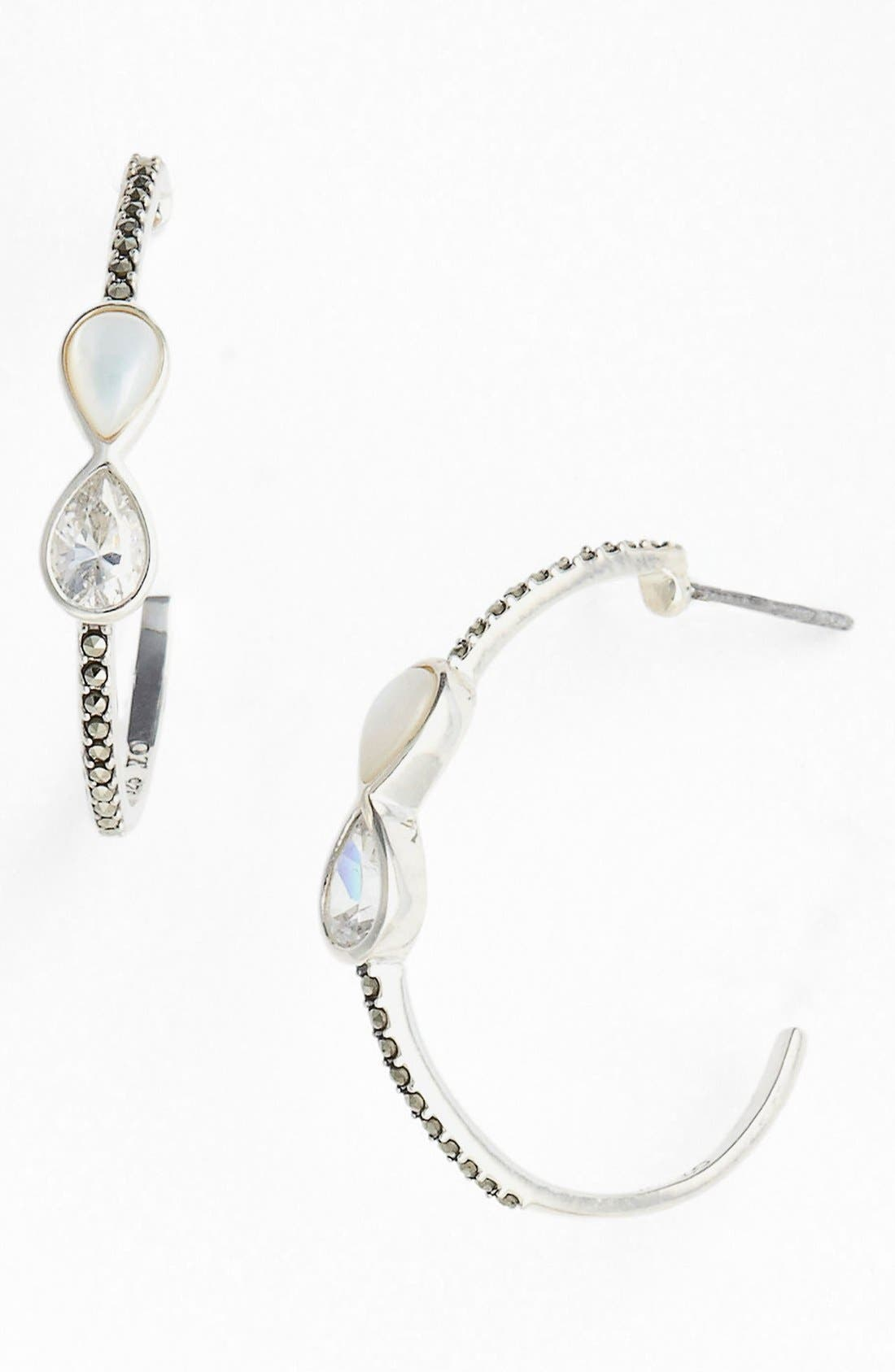 Alternate Image 1 Selected - Judith Jack Station Hoop Earrings