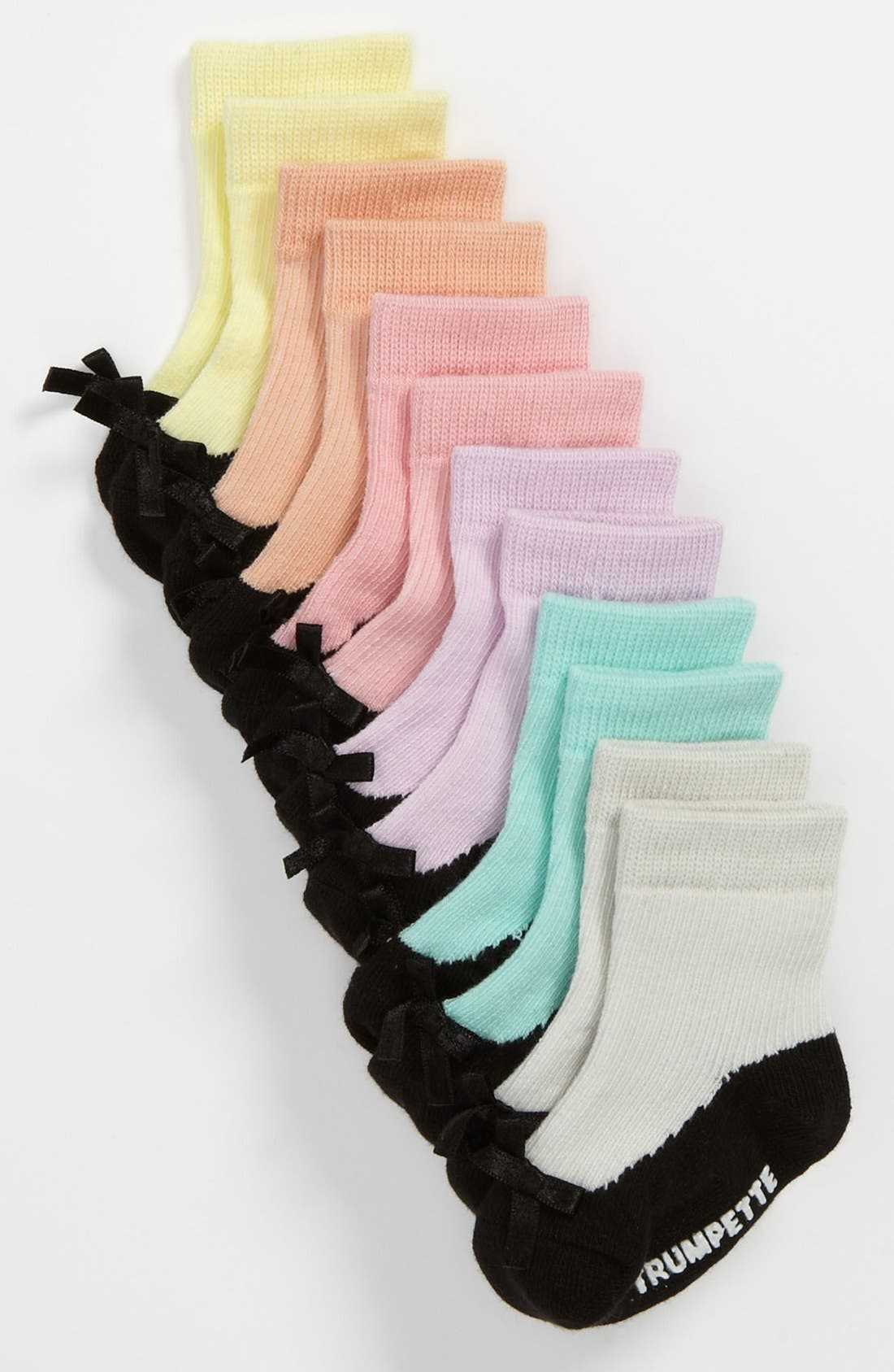 Alternate Image 2  - Trumpette 'Sweetys' Socks (6-Pack)(Baby Girls)