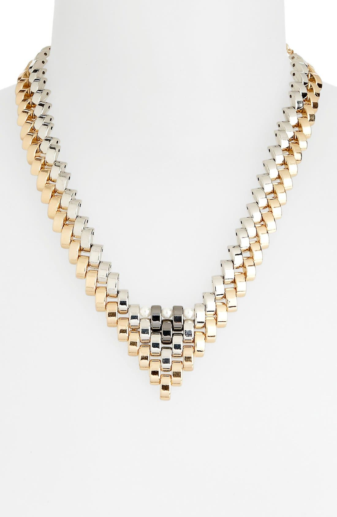 Main Image - Topshop 'V-Link' Collar Necklace