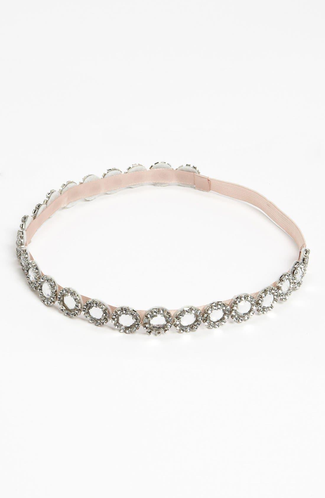 Main Image - Fantasia Accessories Round Stone Headband (Girls)
