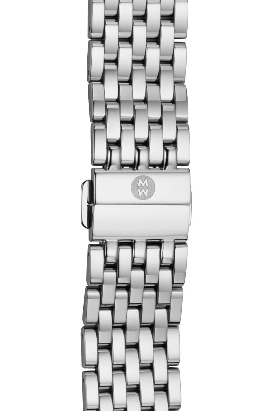 Alternate Image 1 Selected - MICHELE 'Fluette' 18mm Two Tone Bracelet Watch Band