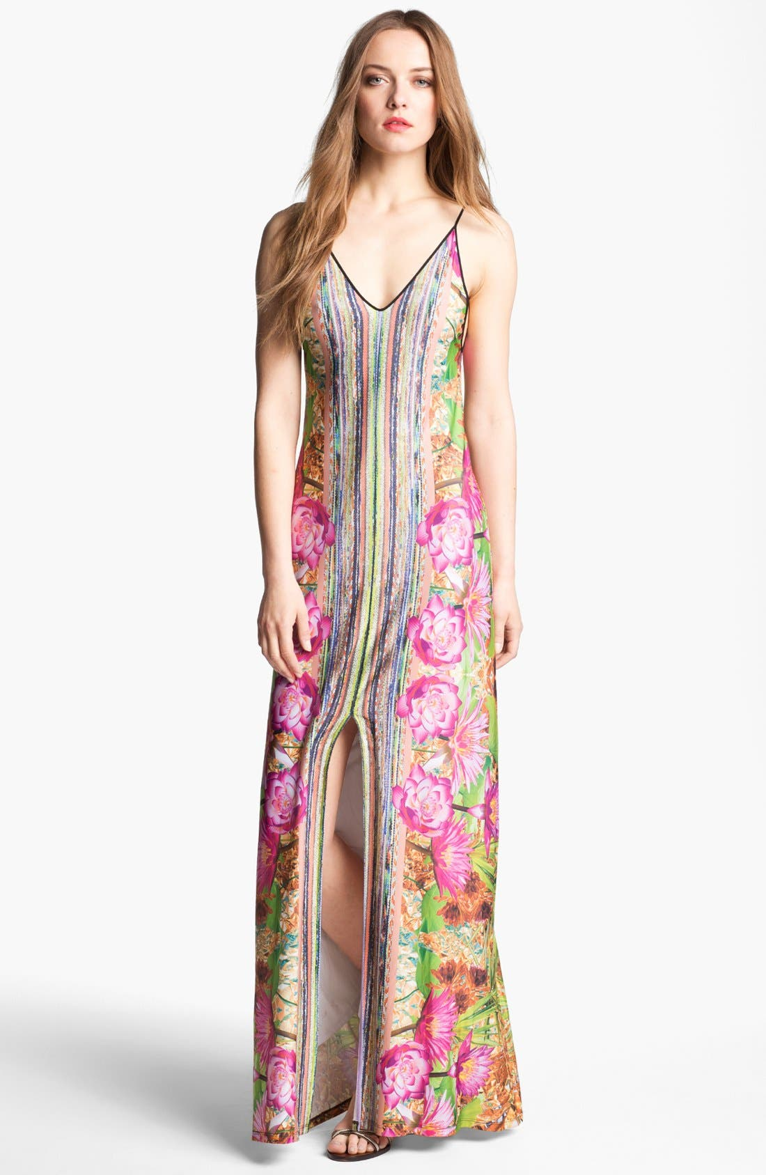 Alternate Image 1 Selected - Clover Canyon 'Fool's Gold' Stretch Maxi Dress