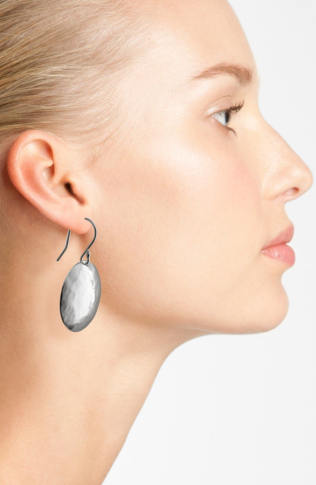 Alternate Image 2  - Argento Vivo Hammered Disc Drop Earrings (Nordstrom Exclusive)