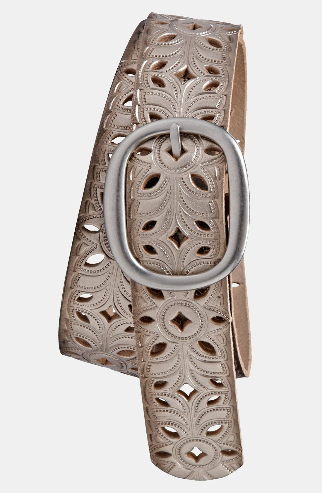 Alternate Image 2  - Fossil Perforated Leather Belt