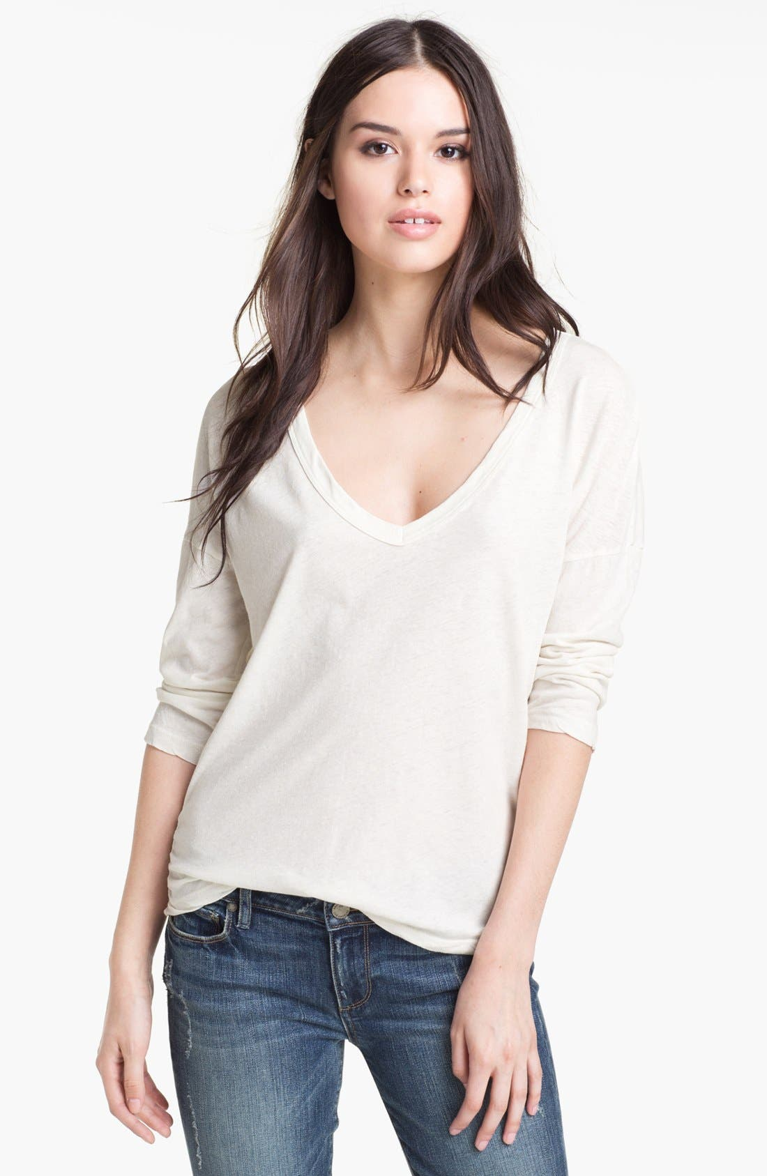 Alternate Image 1 Selected - James Perse Relaxed Deep V Top