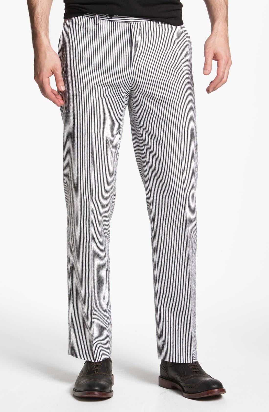 Main Image - John Varvatos Star USA Red Label 'Petro' Striped Trousers