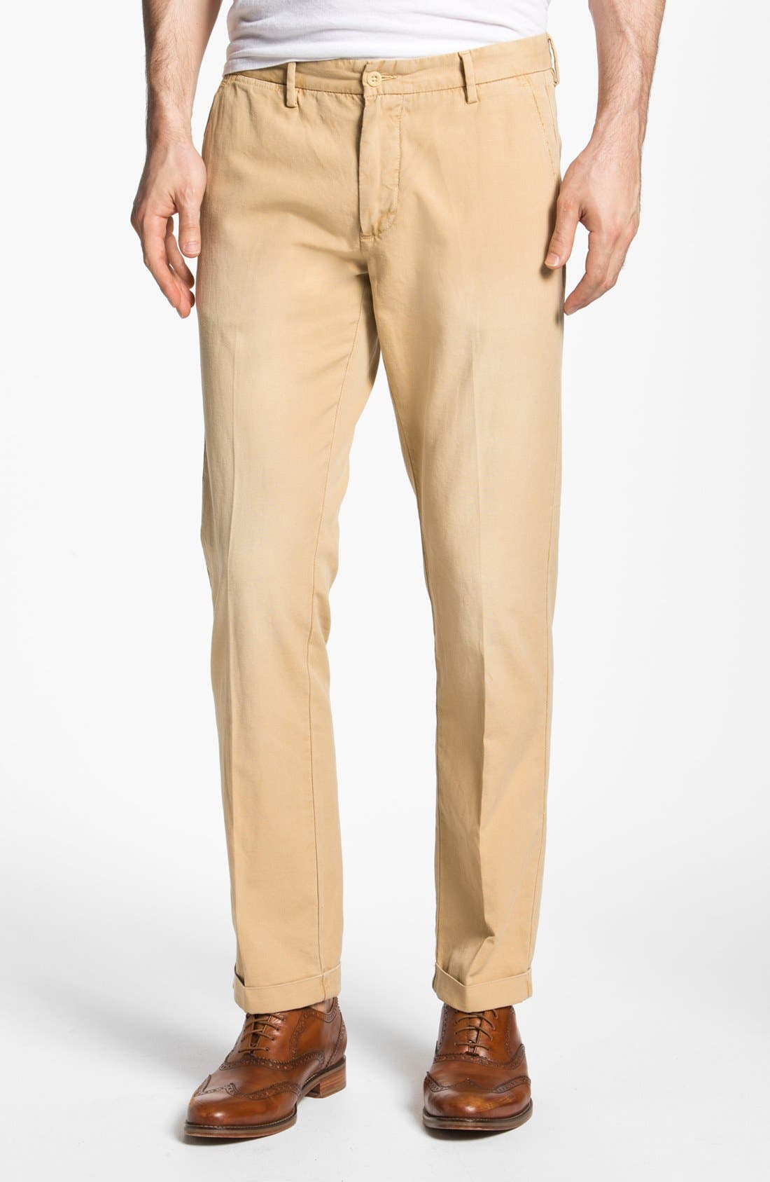 Alternate Image 1 Selected - Gant Rugger Slim Fit Canvas Chinos