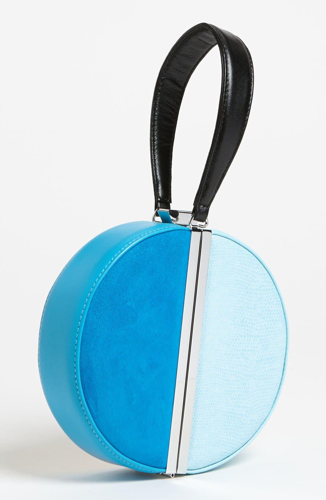 Main Image - Diane von Furstenberg Colorblock Circle Clutch