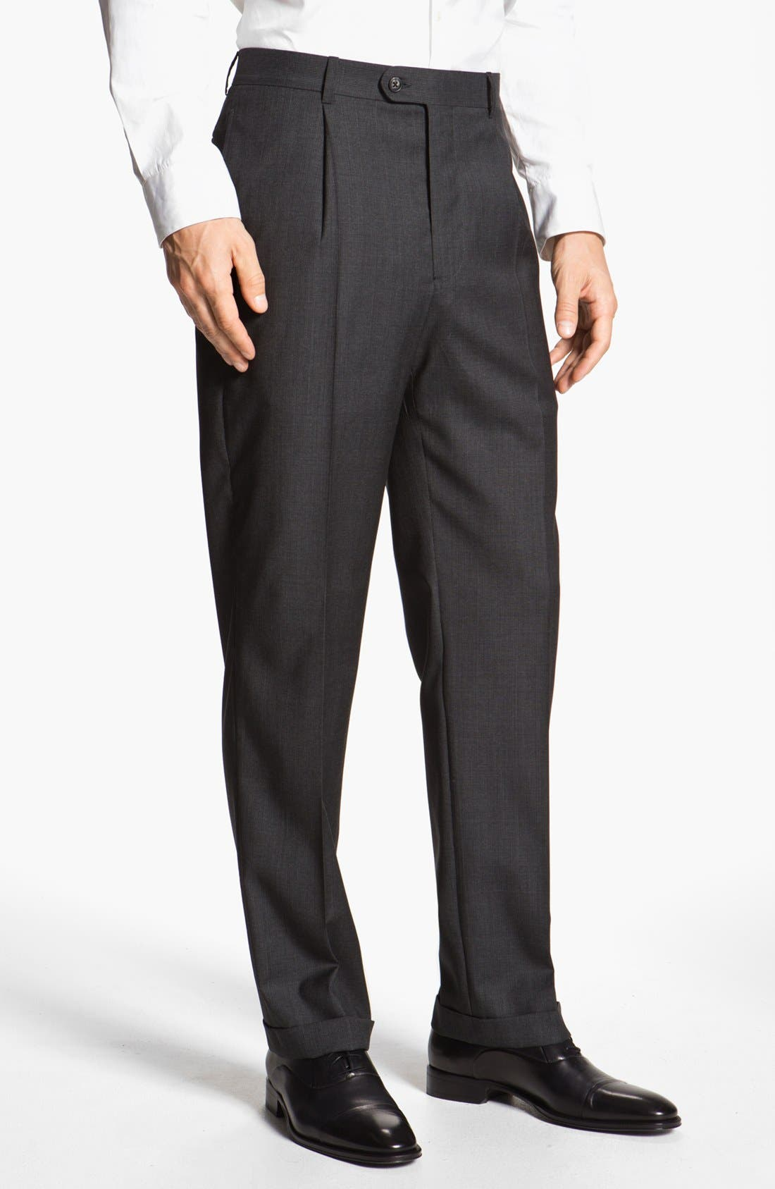 Alternate Image 4  - Joseph Abboud 'Signature Silver' Plaid Wool Suit (Online Only)