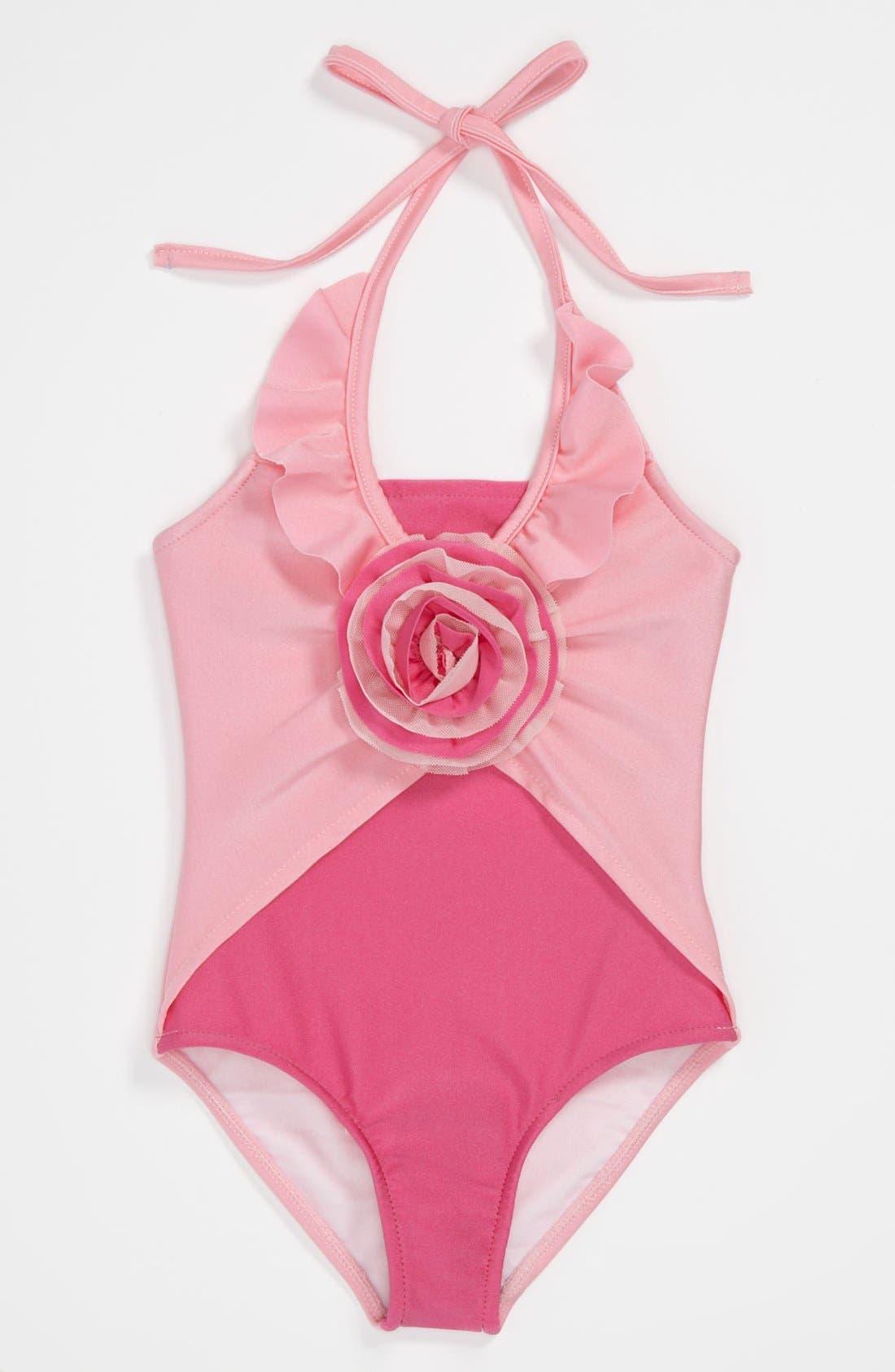 Alternate Image 1 Selected - Love U Lots One Piece Swimsuit (Toddler, Little Girls & Big Girls)