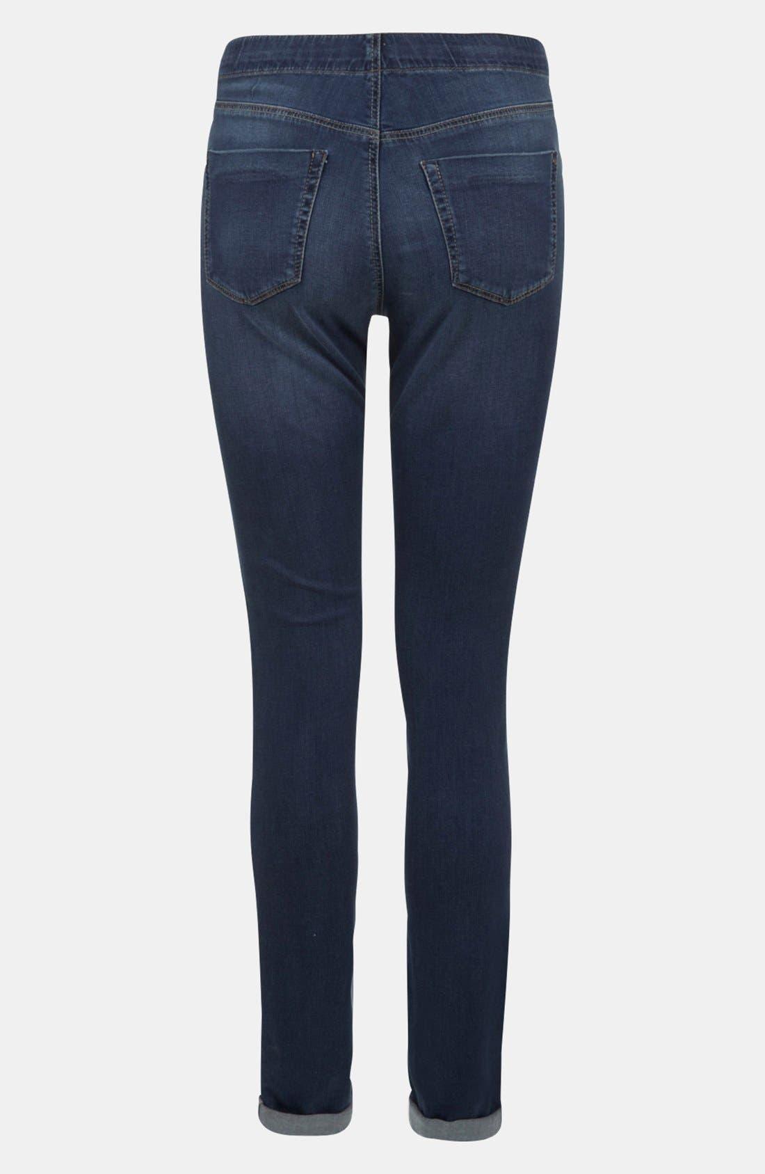 Alternate Image 2  - Topshop 'Leigh' Maternity Skinny Jeans (Short)