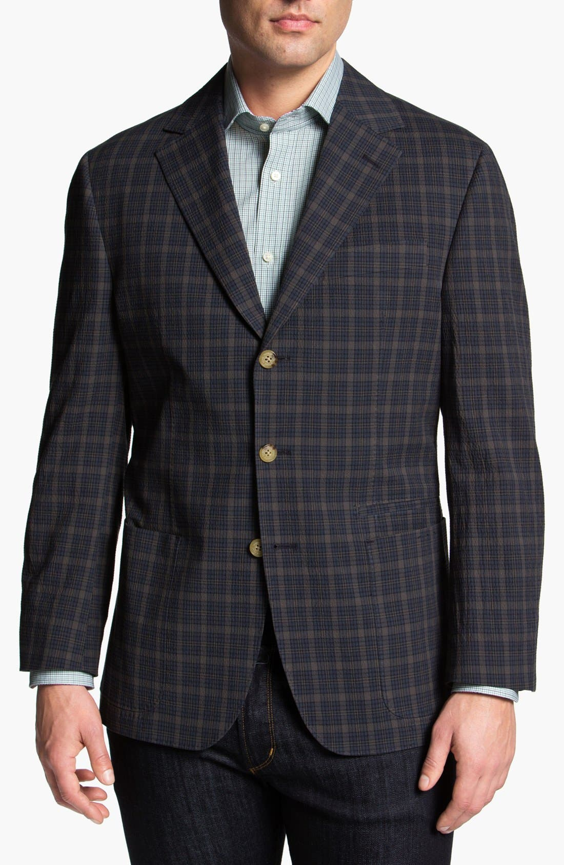 Alternate Image 1 Selected - Thomas Dean Plaid Sportcoat
