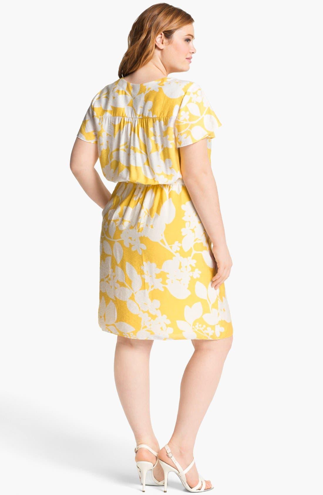 Alternate Image 2  - Adrianna Papell Print Shirtdress (Plus Size)