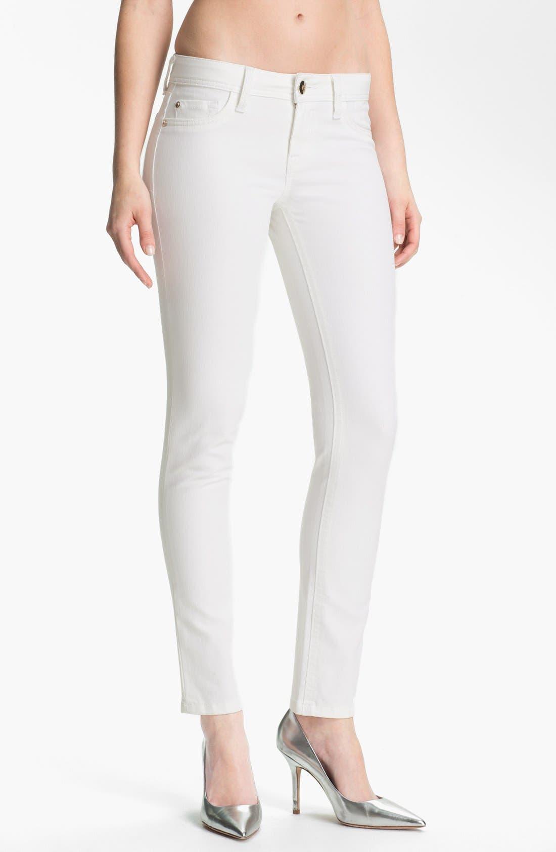 Main Image - DL1961 'Amanda' X-Fit Stretch Denim Skinny Jeans (Milk)