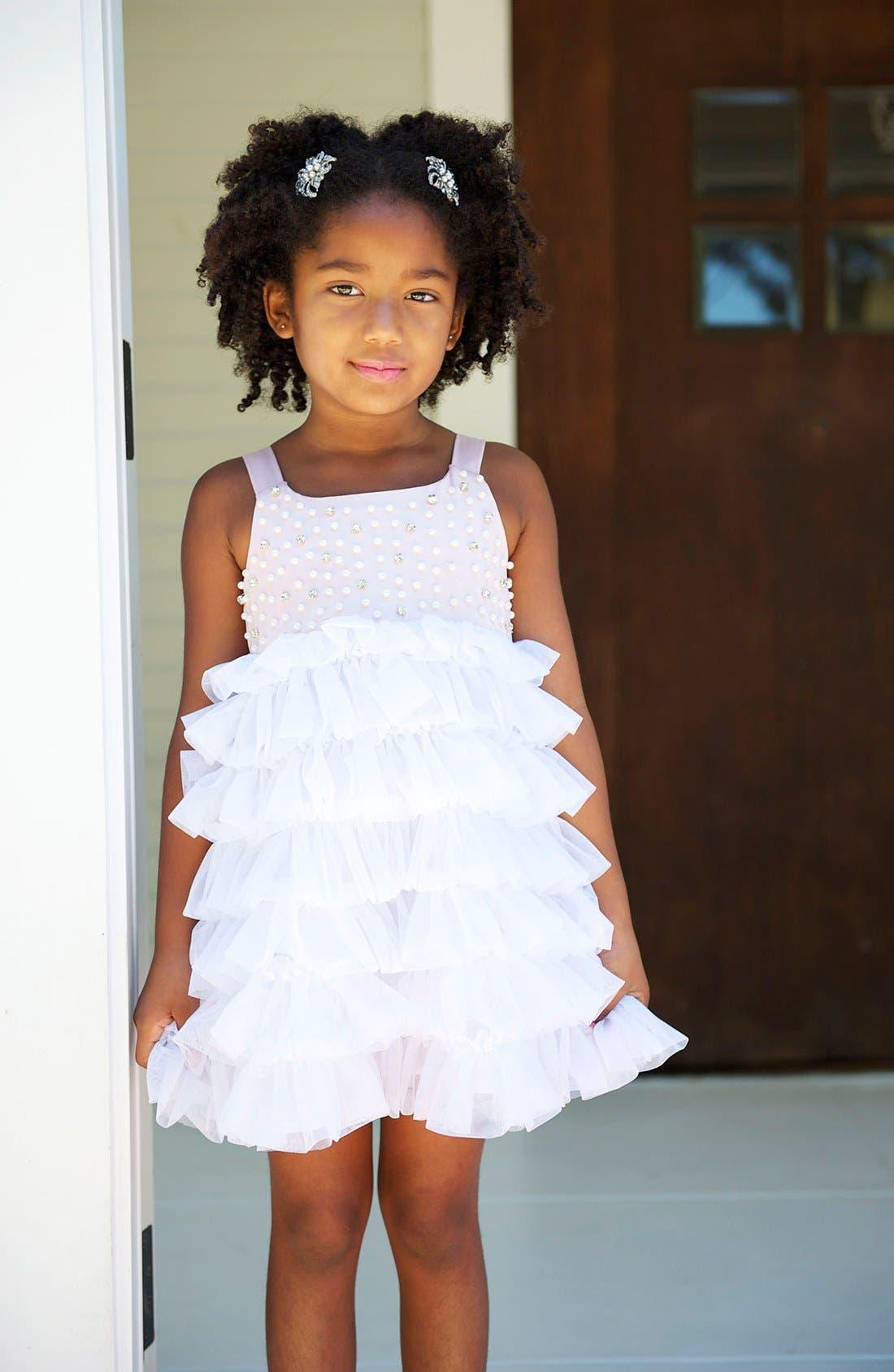 Alternate Image 2  - La Piccola Danza Kidswear Beaded Bodice Dress (Little Girls)