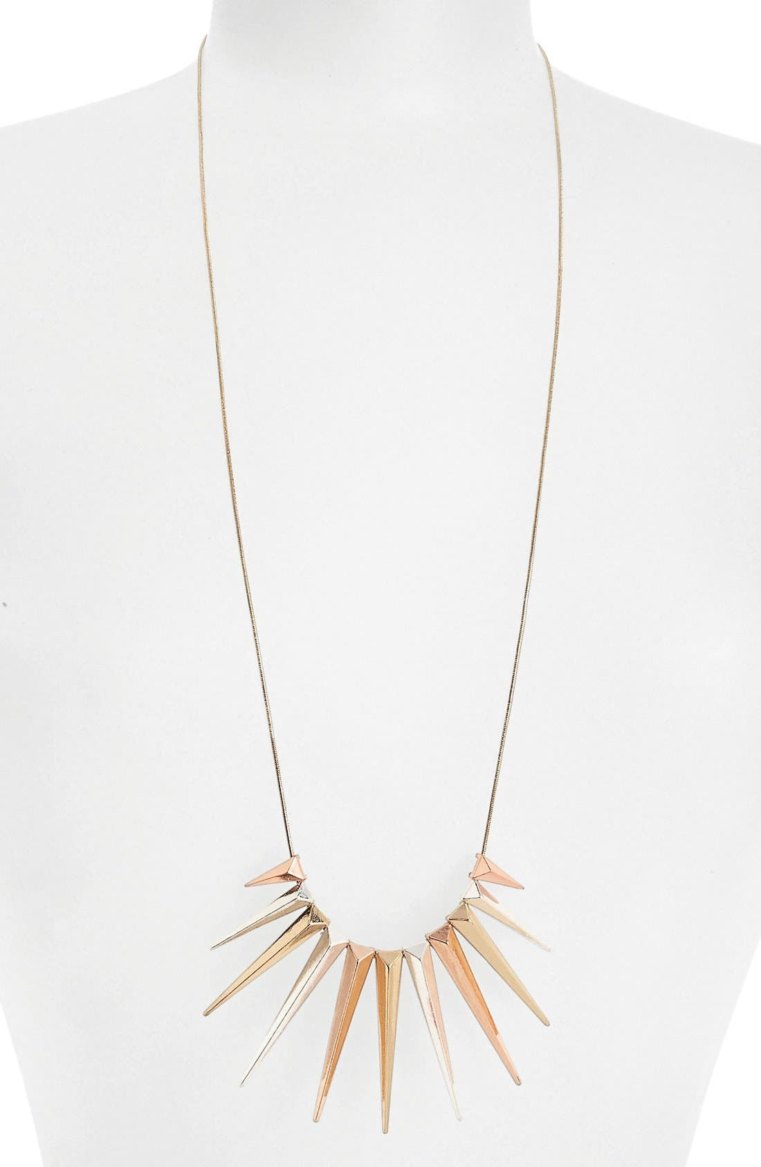 Main Image - Topshop 'Cascade Spike' Cluster Pendant Necklace