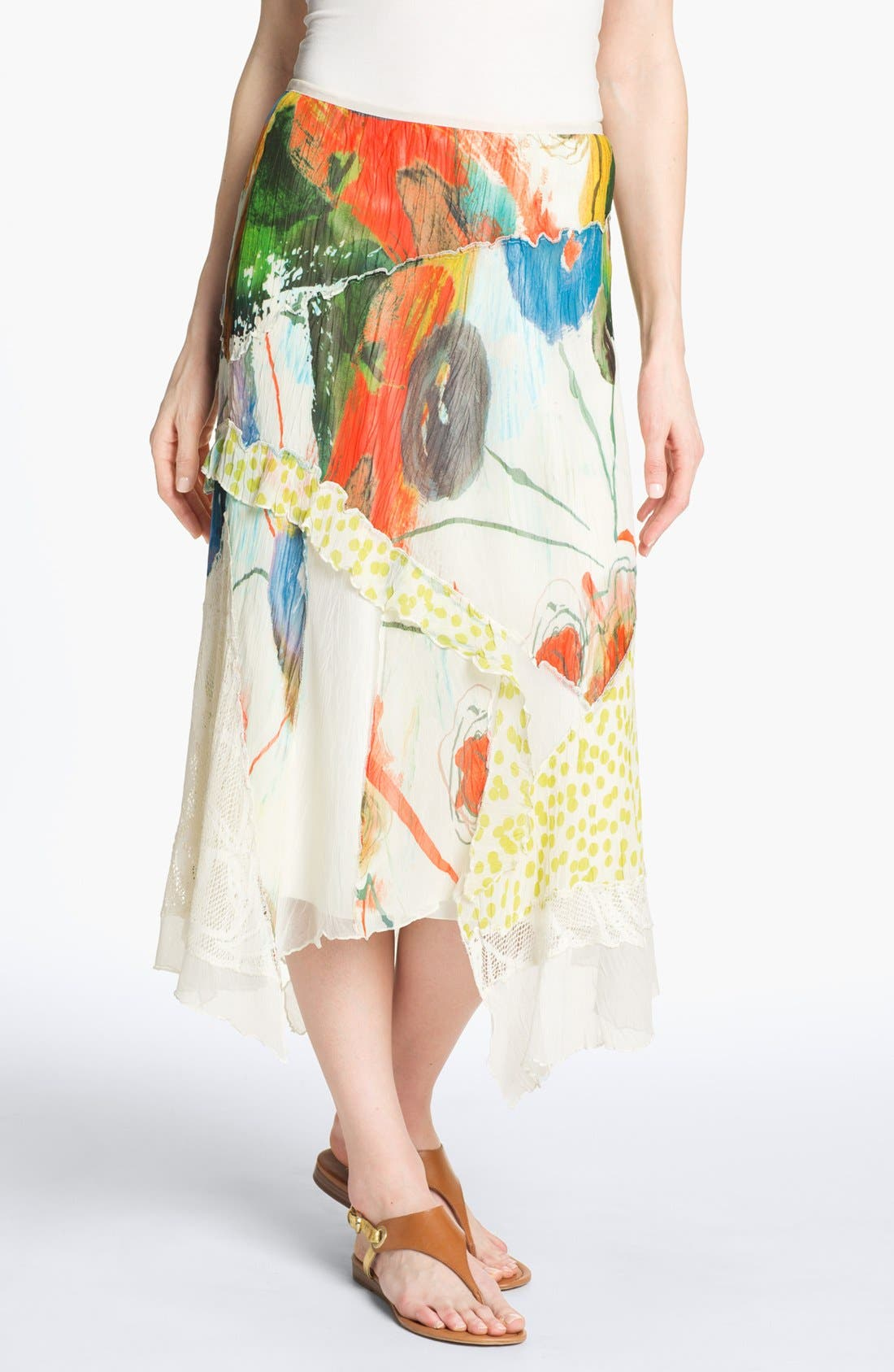 Alternate Image 1 Selected - Komarov Mix Print Maxi Skirt