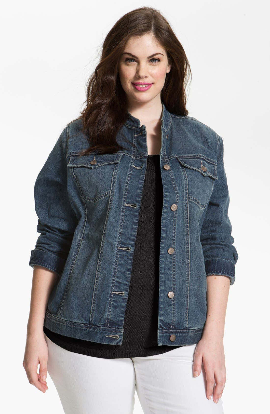 Alternate Image 1 Selected - NYDJ 'Penny' Jean Jacket (Plus Size)