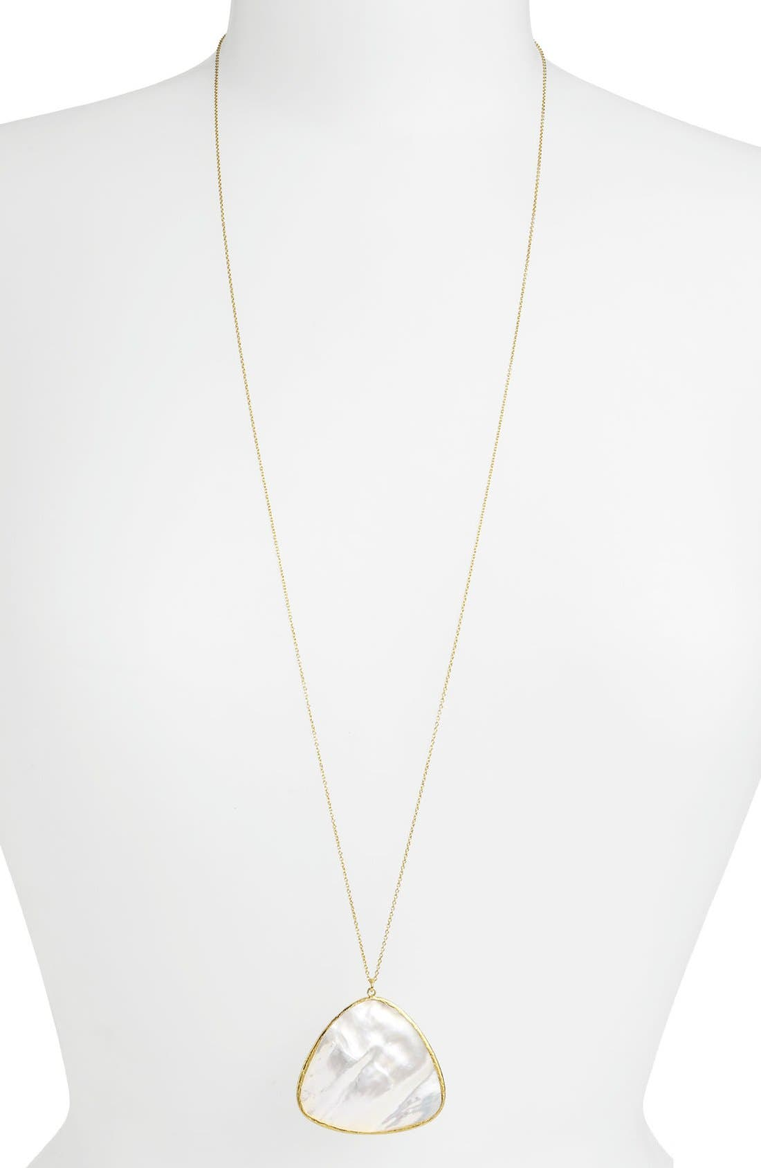Alternate Image 1 Selected - Argento Vivo Long Triangular Pendant Necklace