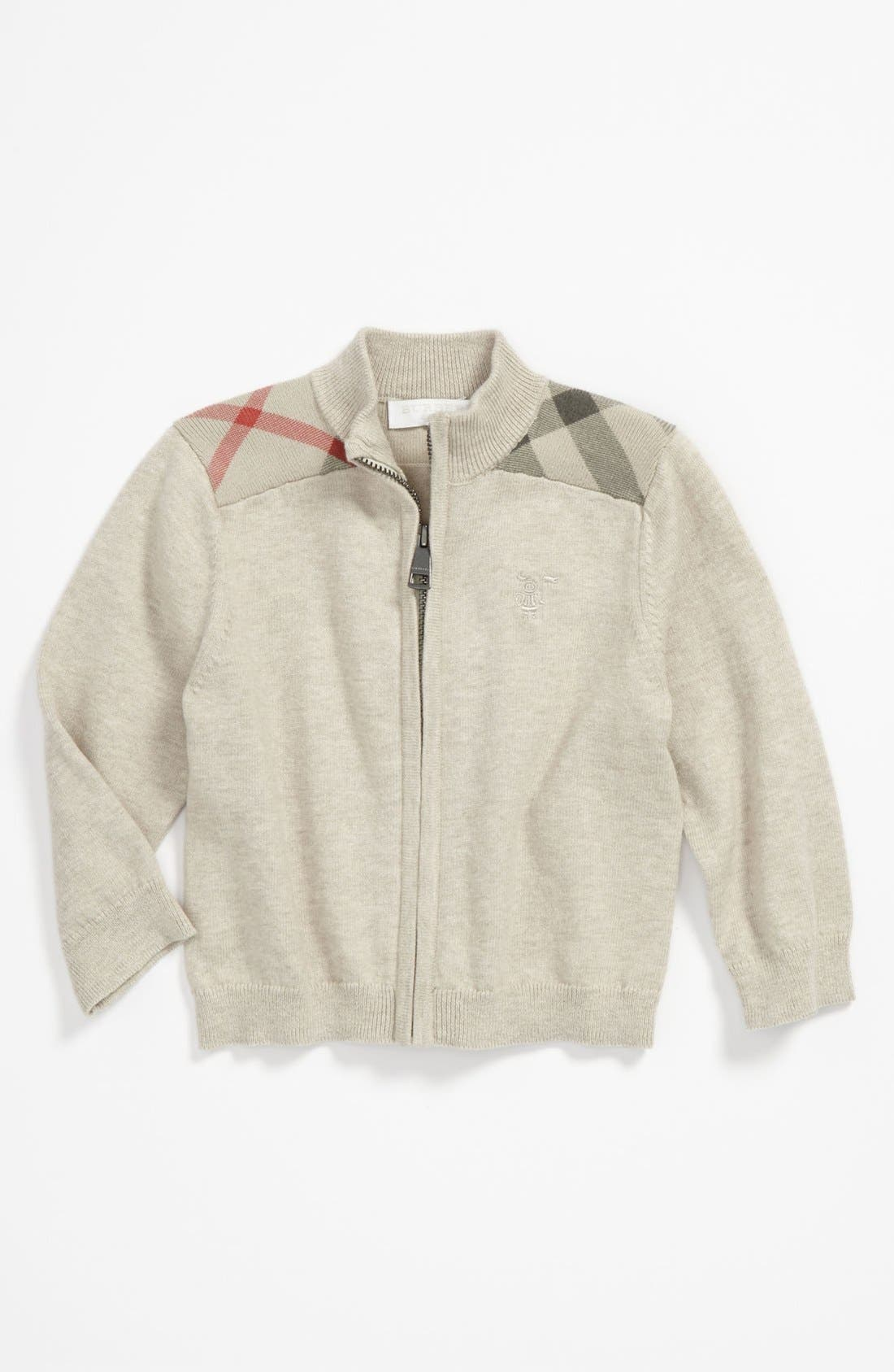 Alternate Image 1 Selected - Burberry 'Christian' Sweater (Toddler)