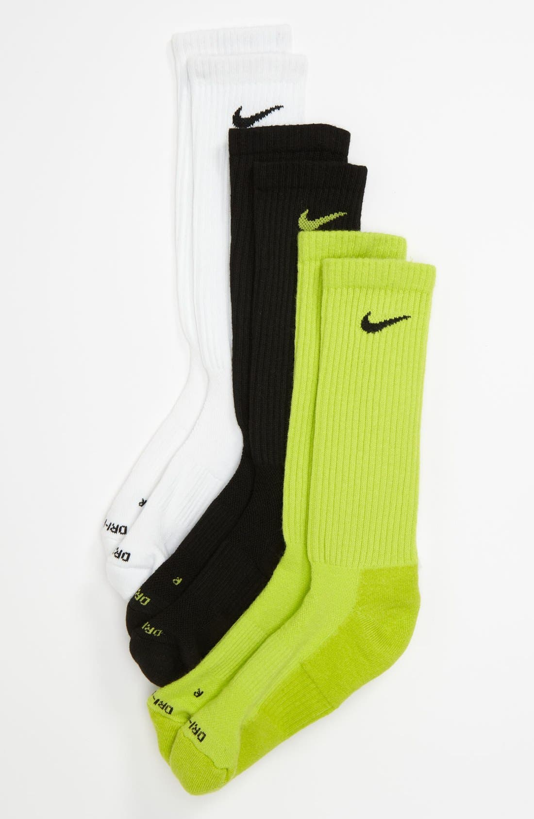 Alternate Image 1 Selected - Nike Dri-FIT Socks (3-Pack) (Big Kid)