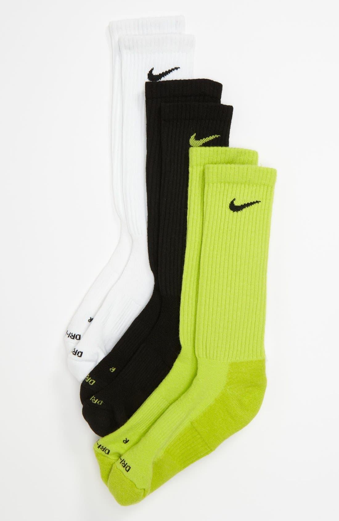 Main Image - Nike Dri-FIT Socks (3-Pack) (Big Kid)