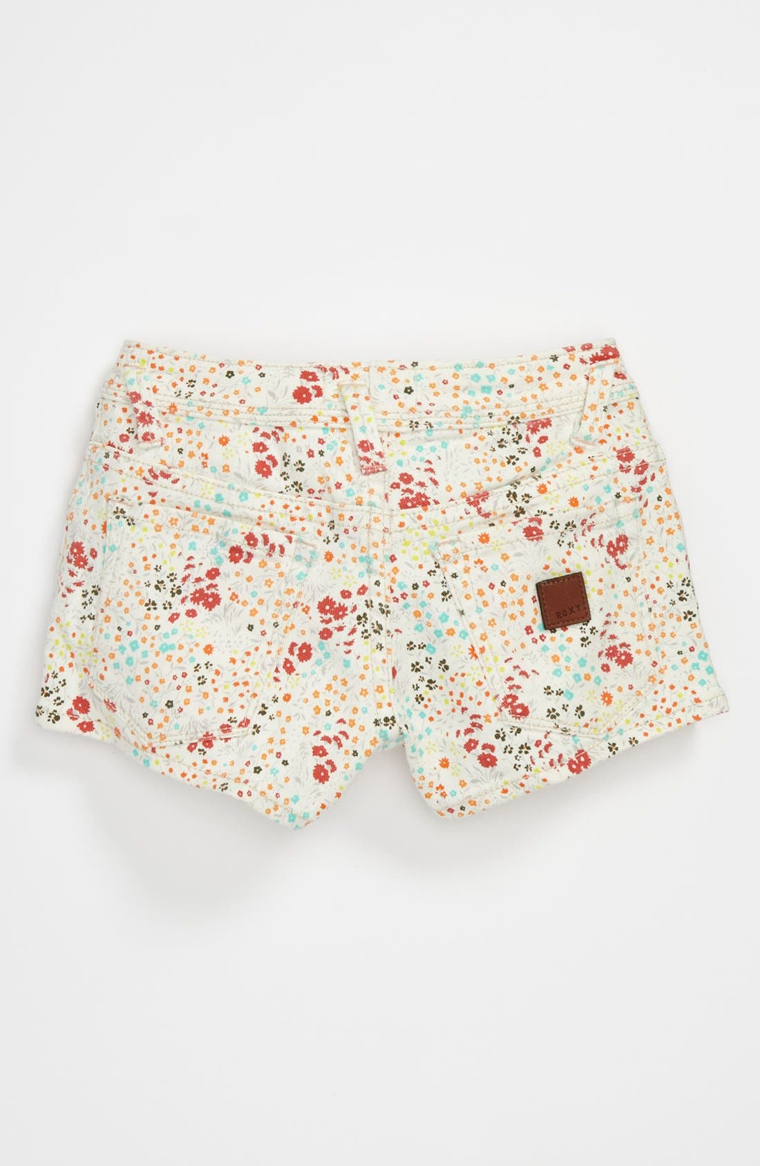 Alternate Image 1 Selected - 'Festival' Print Denim Shorts (Big Girls)