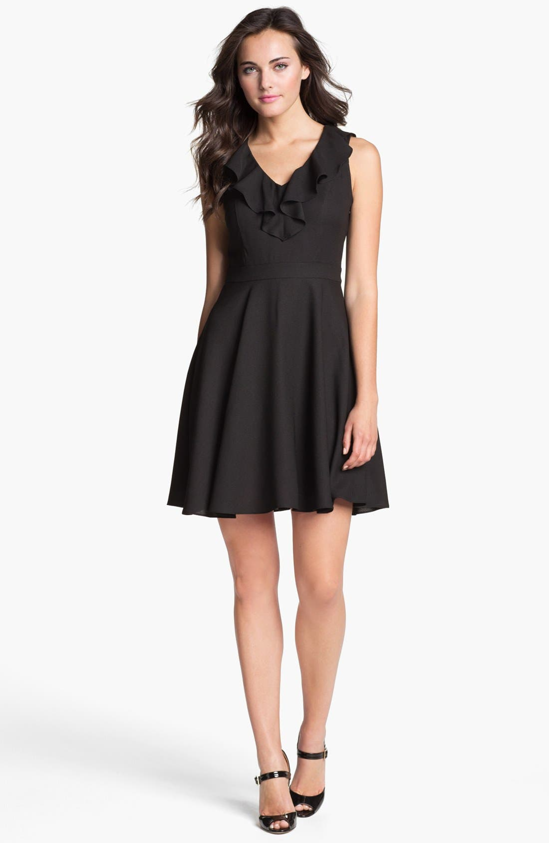 Main Image - Marc New York by Andrew Marc Ruffled Fit & Flare Dress
