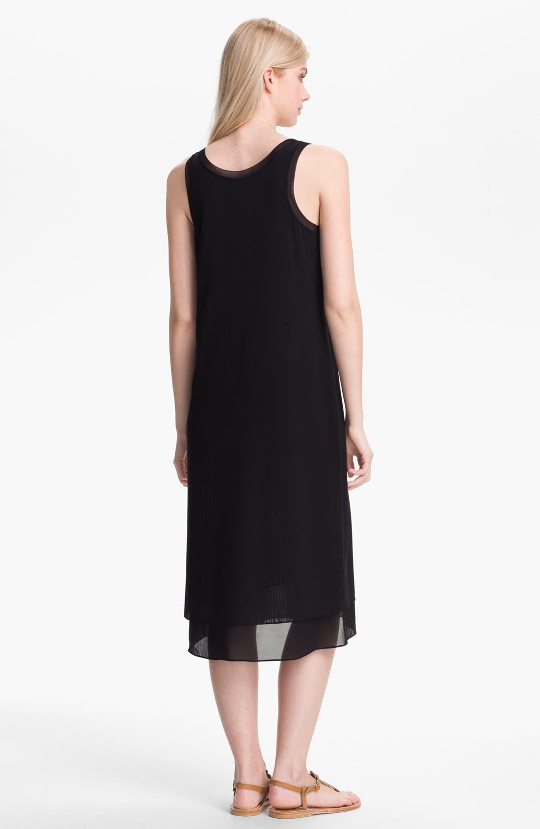 Alternate Image 2  - Vince Layered Silk Midi Dress