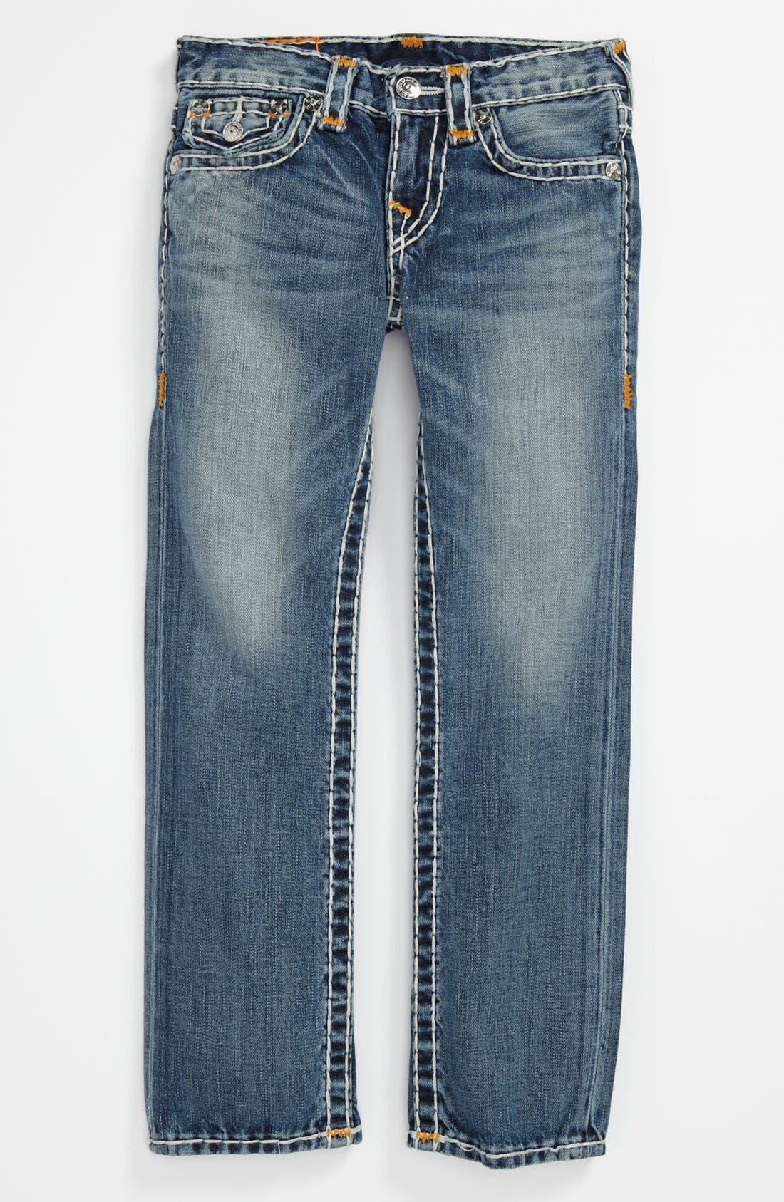 Alternate Image 2  - True Religion Brand Jeans 'Jack Super T' Straight Leg Jeans (Little Boys & Big Boys)