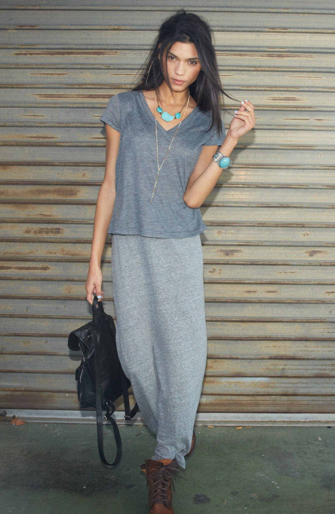 Main Image - BP. Tee, h.i.p. Maxi Skirt & Accessories
