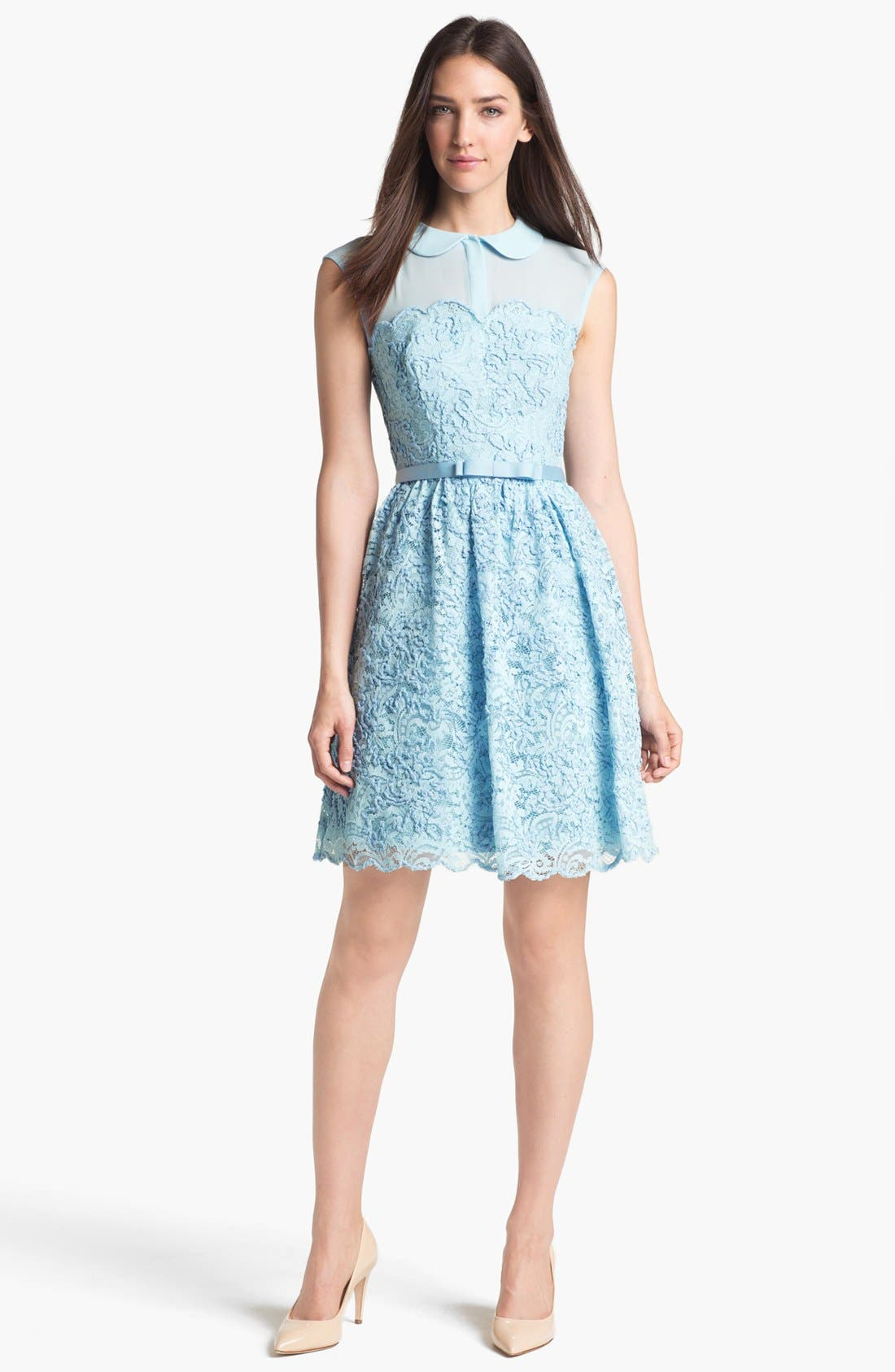 Alternate Image 1 Selected - Ted Baker London Lace Fit & Flare Dress (Online Only)