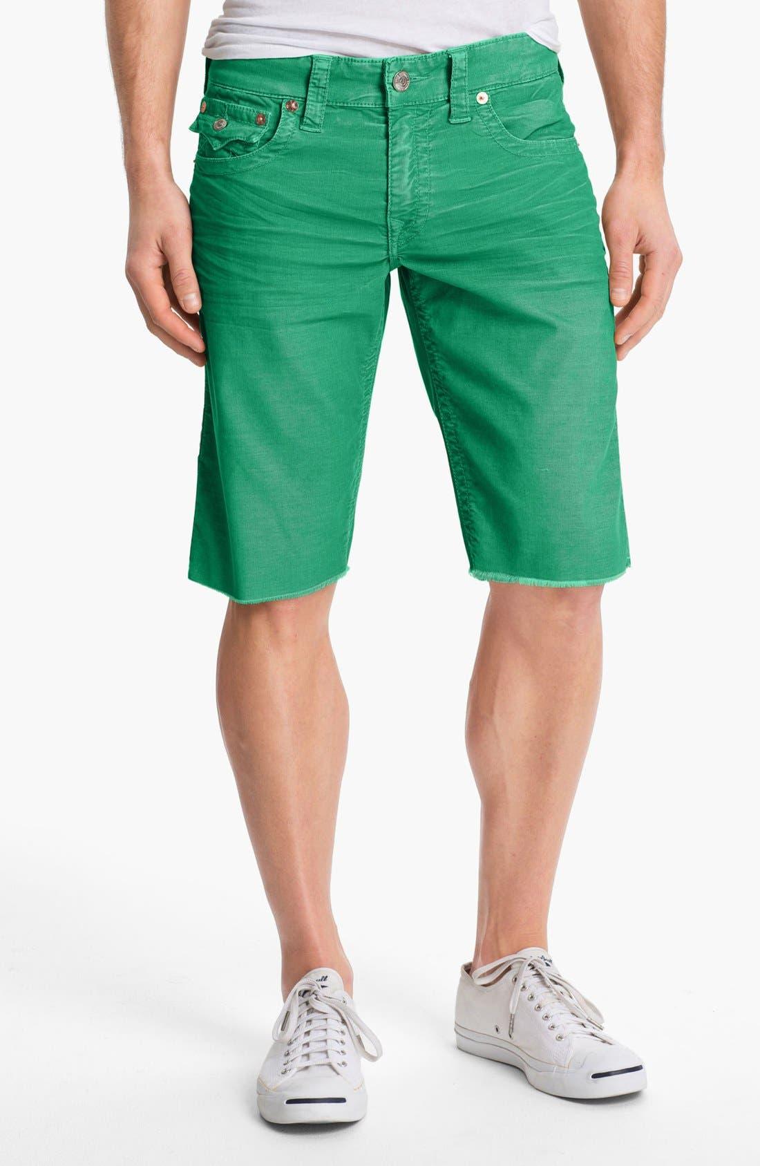 Alternate Image 1 Selected - True Religion Brand Jeans 'Ricky' Cutoff Corduroy Shorts