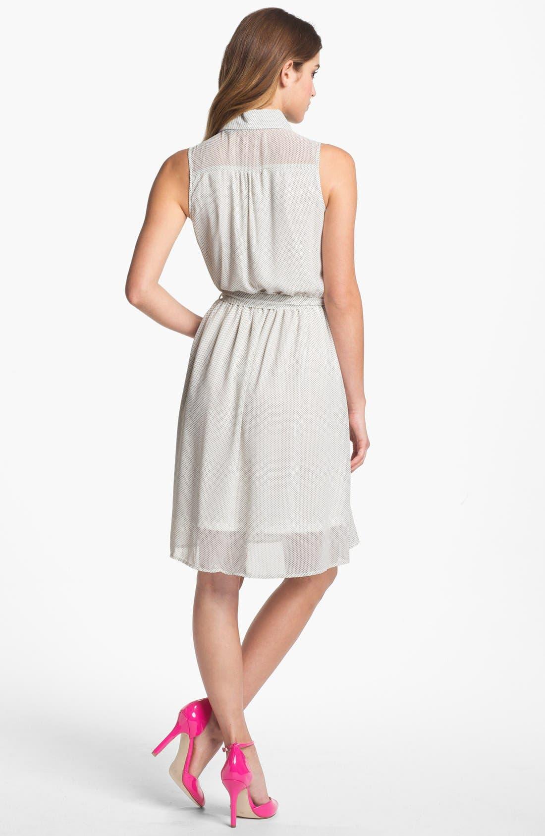 Alternate Image 2  - Press Sleeveless Shirtdress (Online Only)