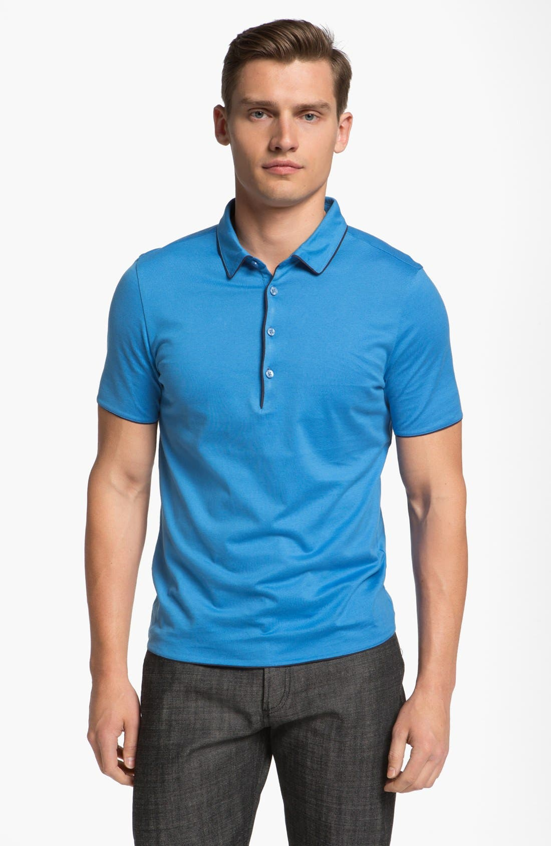 Alternate Image 1 Selected - Z Zegna 'Carbon Finish' Polo